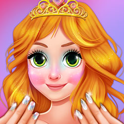 Blonde Prinzessin Jelly Nails Spa